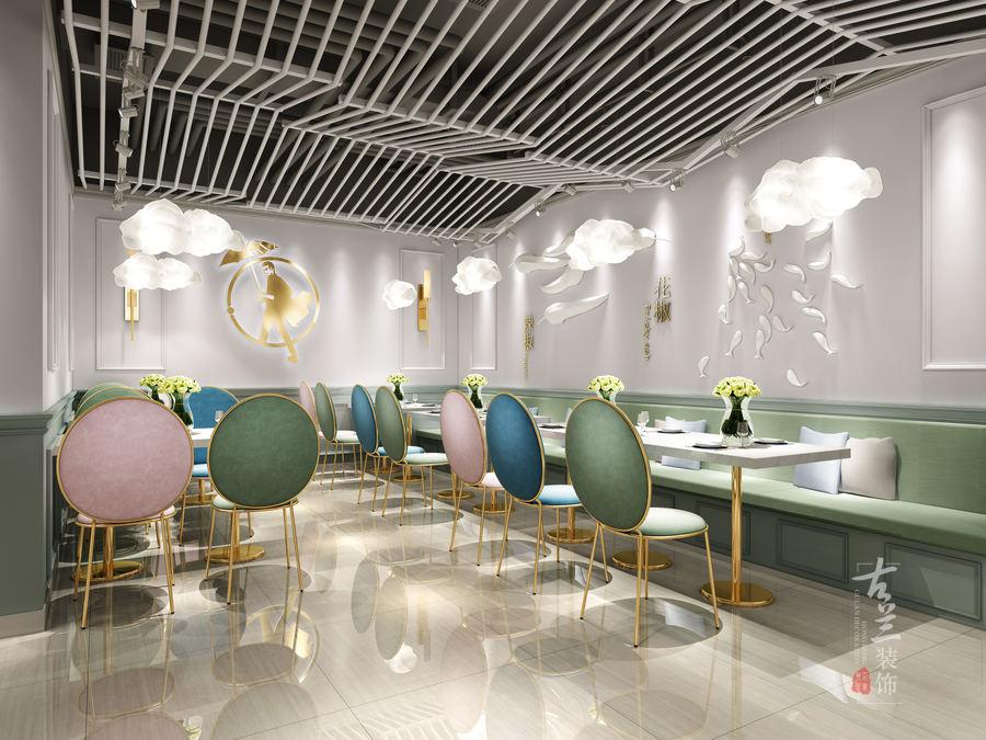 昆明特色快餐厅装修设计|网红快餐厅设计案例|鱼东家旗舰店