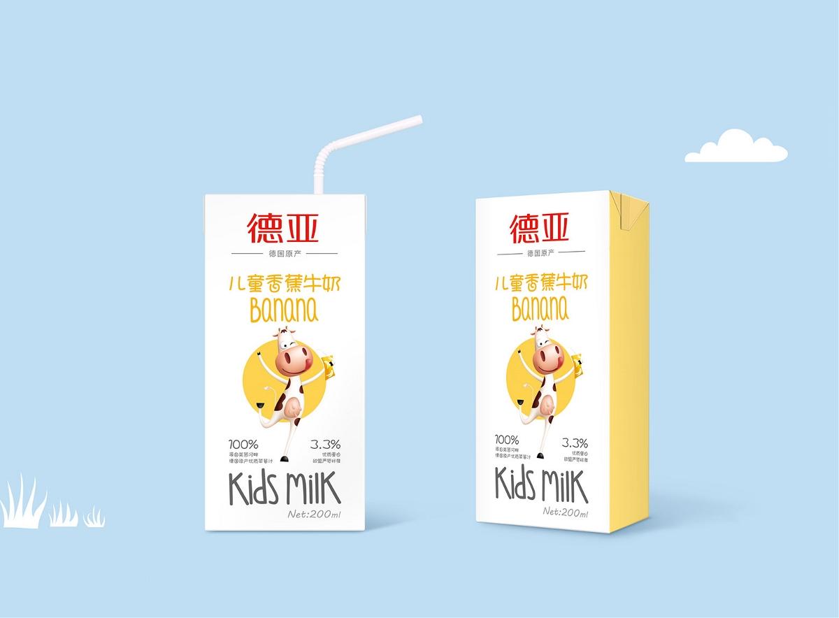 莱茵河畔的牧场牛奶