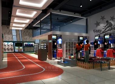 体育用品卖场丨成都店面设计丨商铺空间设计丨筑格装饰