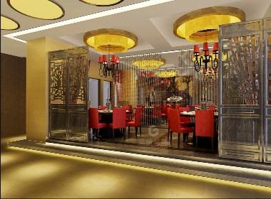 四川丰禾银座餐饮酒楼装修设计效果图赏析|筑格装饰