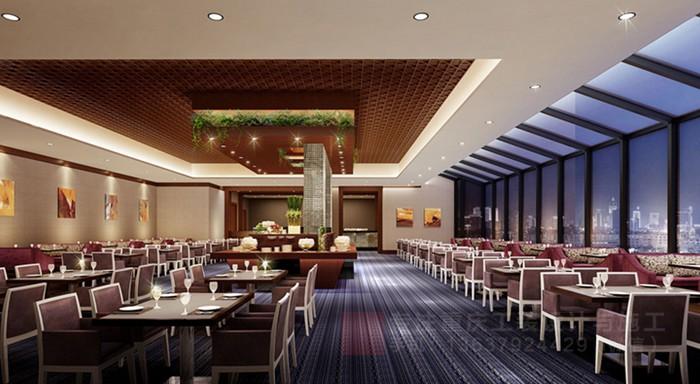 重庆自助海鲜餐厅装修设计效果图「重庆观景装饰」
