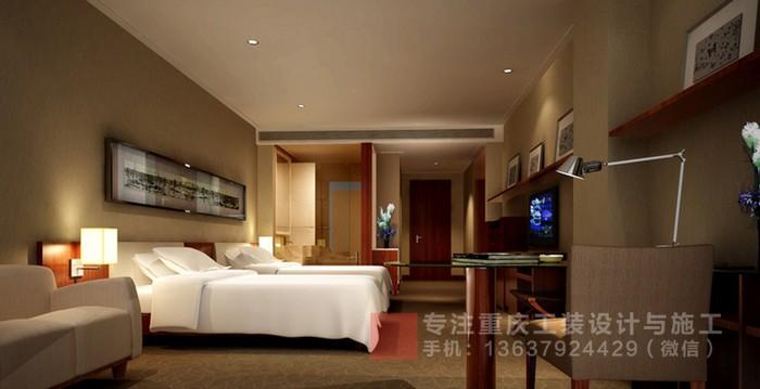 重庆酒店装修商务酒店设计效果图「重庆观景装饰」