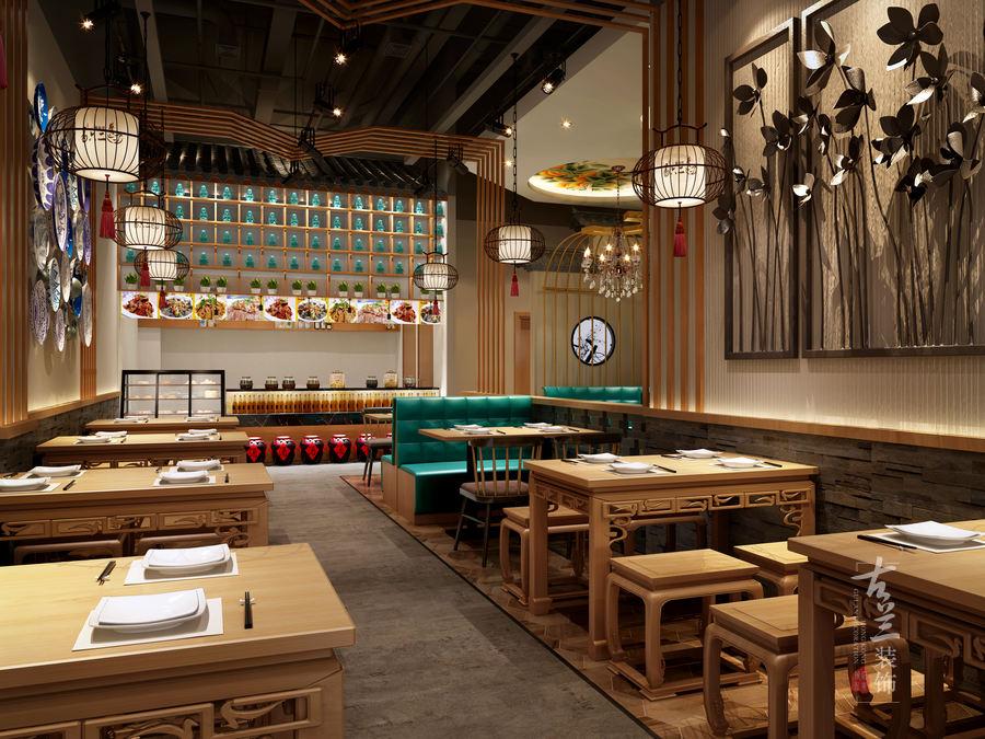 易六二椒麻鸡小吃店-成都特色小吃店装修设计案例