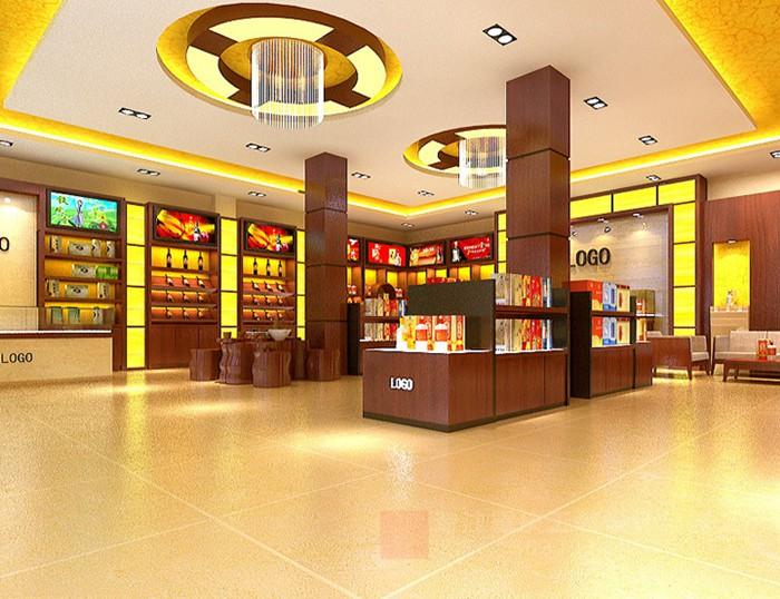重庆烟酒店装修设计效果图案例「重庆观景装饰」