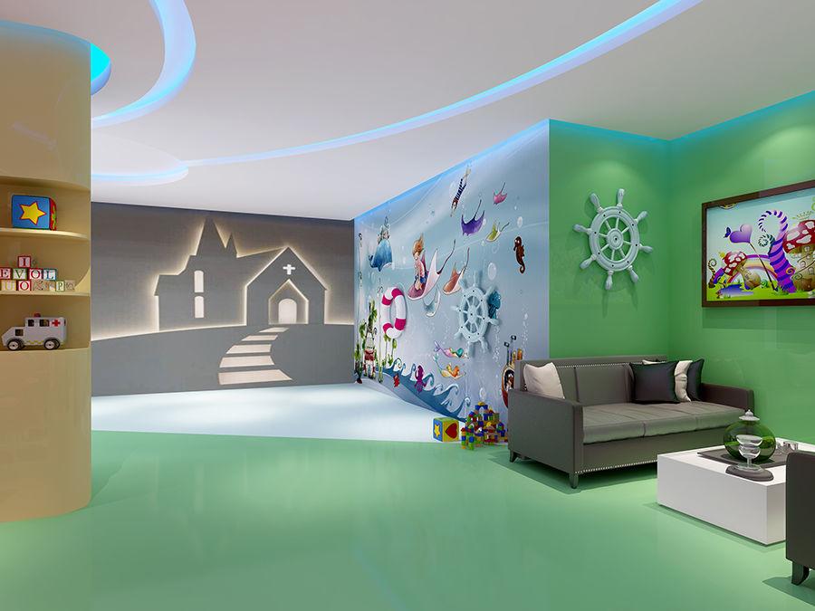 成都婴儿亲子游泳馆装修设计 儿童游泳馆设计案例《海洋儿童游泳馆》