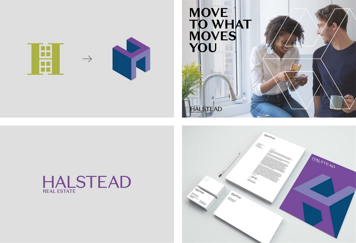 纽约房地产经纪公司Halstead品牌形象设计