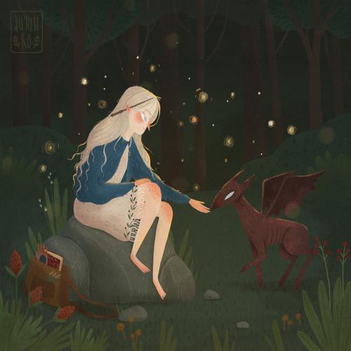 复古森林公主插画欣赏