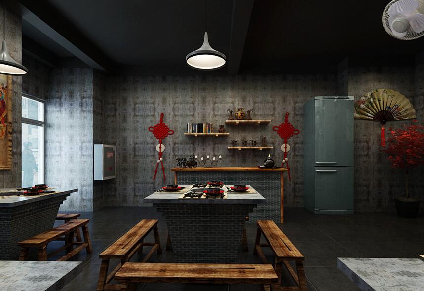怀旧火锅店-广州怀旧火锅店设计,广州工业风火锅店设计,广州特色火锅