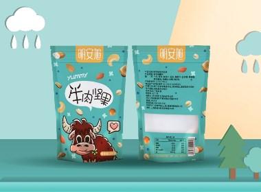 零食 牛肉粒 包装设计