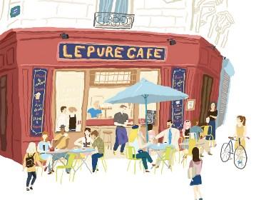 巴黎街景插画欣赏