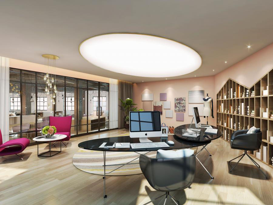 办公室装修设计,创意办公设计理念,郑州升龙广场设计