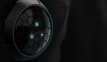 浪尖将核心设备core设计成半球面状,运用六边形蜂巢元素和酷蓝背光