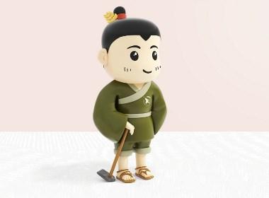 功成良田塑造【功成良田IP形象设计】-优华氏品牌设计出品