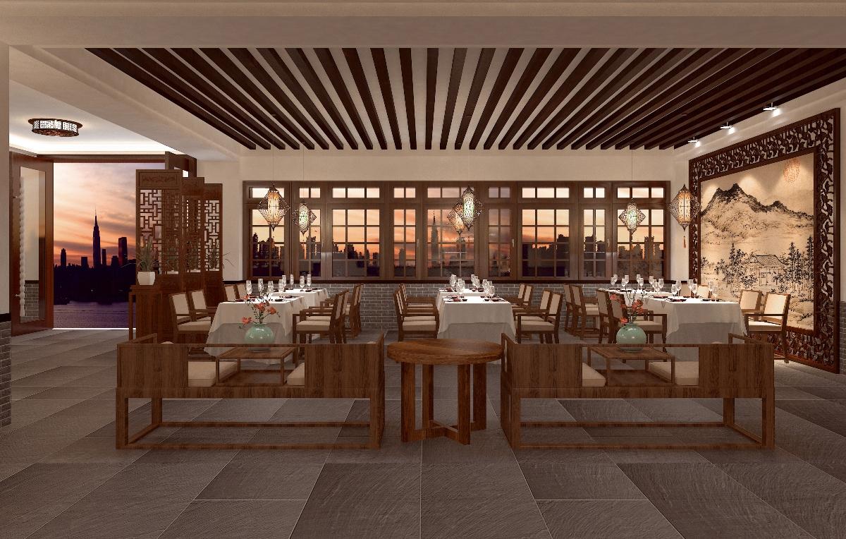 徽派餐饮空间设计-中国设计网