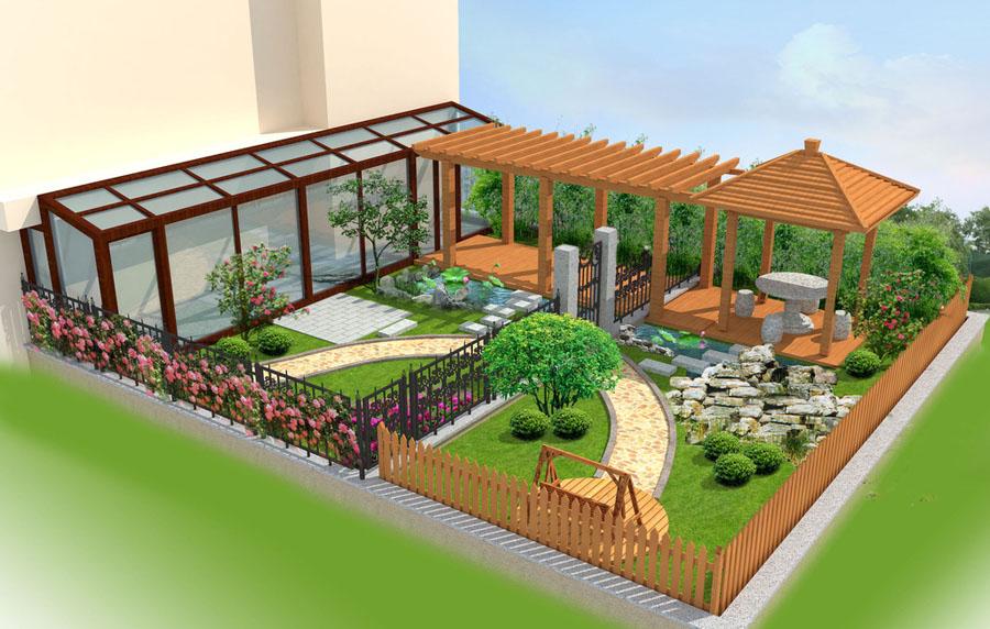 住宅院子 别墅院子设计案例效果图