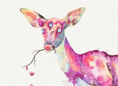插画--鹿