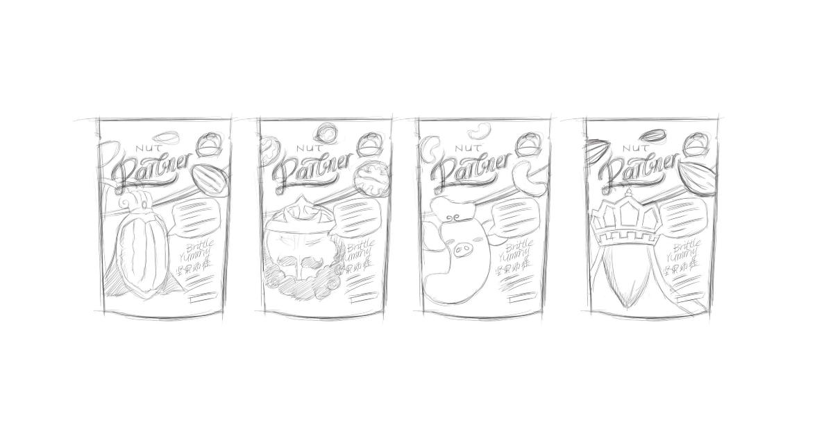 手繪包裝設計構圖