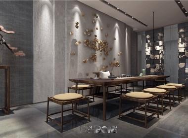 鱼骨设计-新中式会所