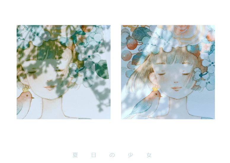花嫁水彩插画