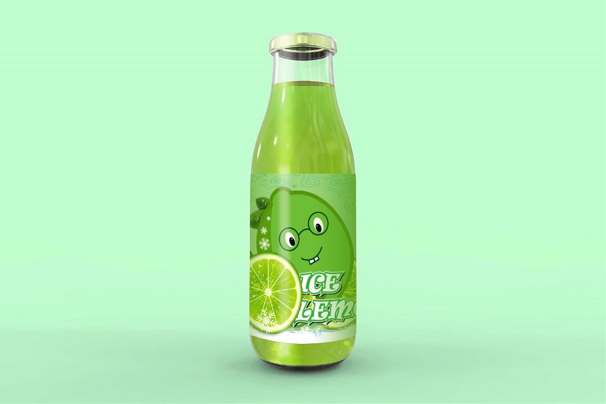 青柠檬饮料瓶标贴纸设计--致一包装设计公司作品