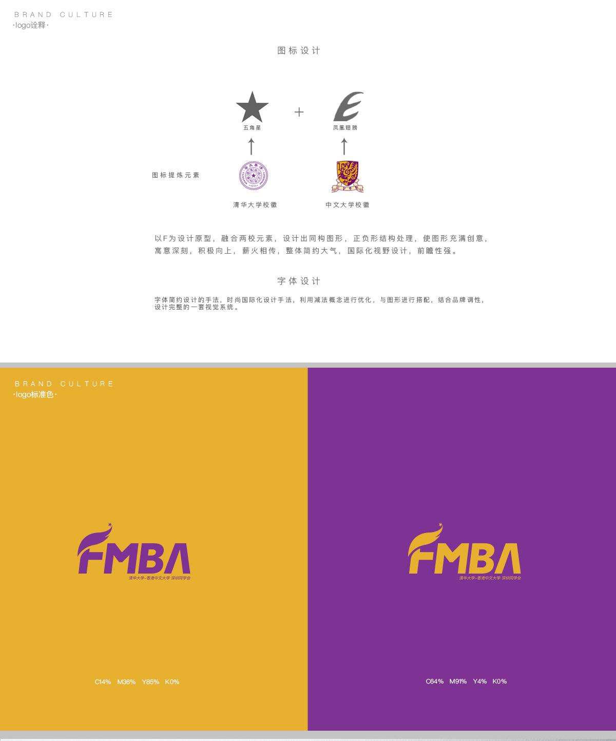 清华大学Finance MBA项目logo设计 vi设计