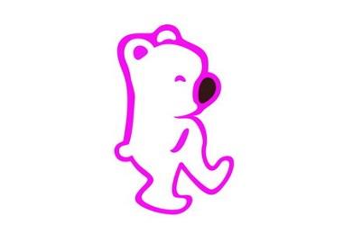 饰品店标志及店面装饰—散步的小熊