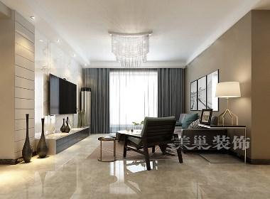 绿都紫荆华庭三居室132平现代简约风格装修效果图欣赏