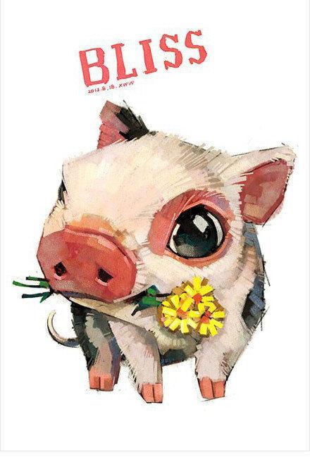 可爱萌萌哒的小动物插画