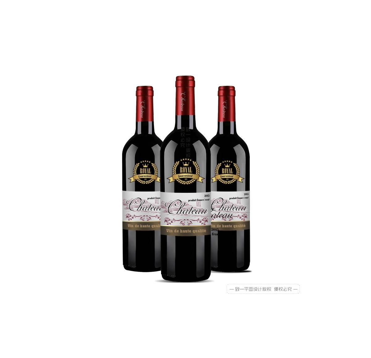 红酒瓶标贴纸设计 - 致一包装设计公司作品