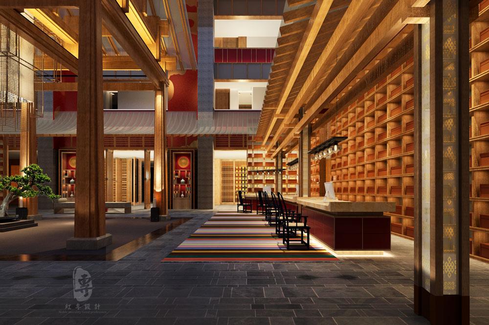 红专星级酒店设计新作:康定锅庄温泉星级酒店
