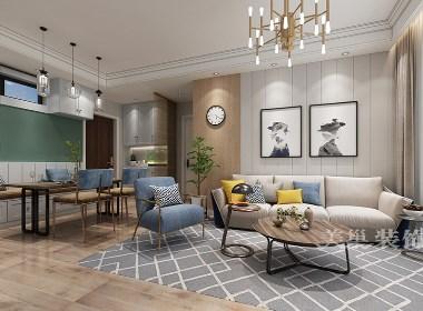 汇泉西悦城89平三居室现代简约风格装修效果图