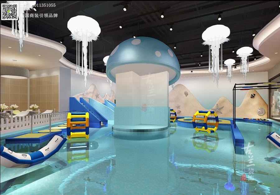 烟台儿童馆设计|烟台婴幼儿游泳馆设计【婴幼儿游泳馆