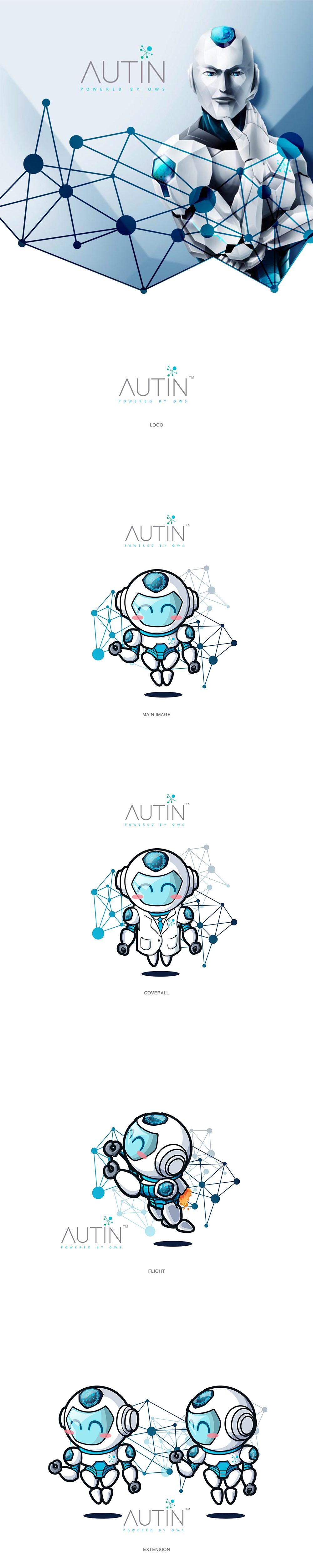 卡通IP形象-机器人表情包