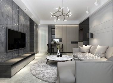 保利心语90平现代简约风格两居室装修效果图