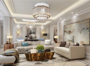 正商红河谷350平法式轻奢风格别墅装修效果图欣赏