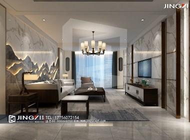 景逸效果图设计——家装新中式设计