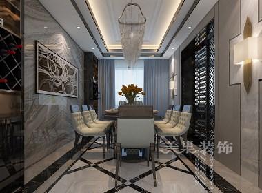 思念果岭国际社区大平层340平混搭风格装修样板间欣赏