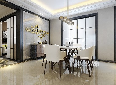 汇泉西悦城140平现代轻奢风格三居室装修案例欣赏