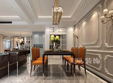 郑州万科城260平复式别墅美式风格装修效果图欣赏