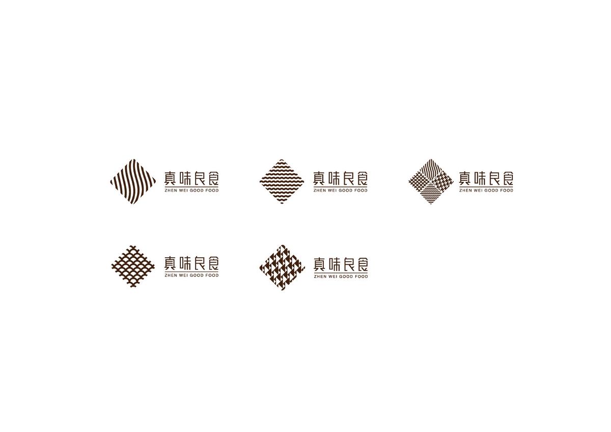 真味良食标志设计/成都餐饮标志LOGO设计/阿飞正赚品牌设计