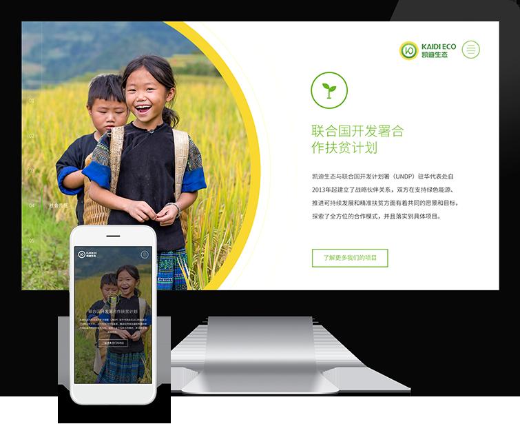 Flow Asia为凯丹生态集团提供网页设计/VI设计