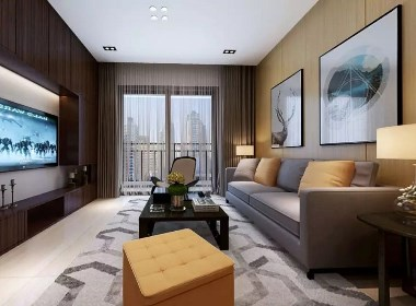 郑州保利心语98平现代港式风格风格三居室装修效果图