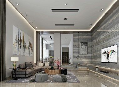工程地址:浪琴花园 面积:480平㎡   户型:别墅 风格:现代风格