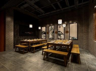 南京专业火锅店装修-庭院