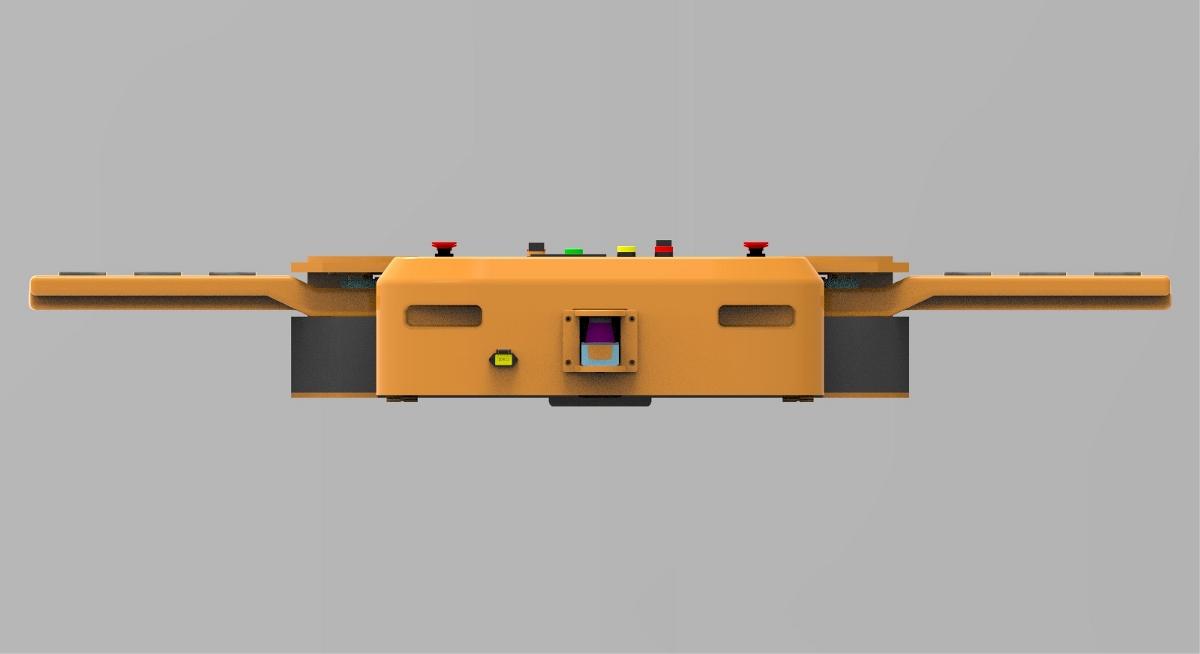 进线电缆仅三相五线,可选用小型化电缆卷线器,控制系统实现无线传输.