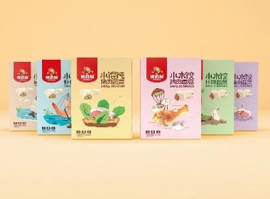 天唐出品|《优贝加 ▪ 馄饨水饺》婴幼儿辅食包装设计