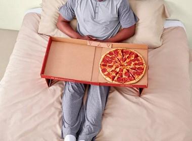 德腾为大家分享一款赖床神器,餐桌披萨盒陪你享受世界杯
