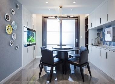 华润紫韵城120平三室两厅现代简约风格装修实景图欣赏