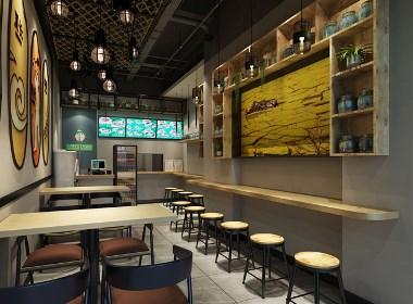 餐厅室内设计效果图-美霖培训分享 设计说明