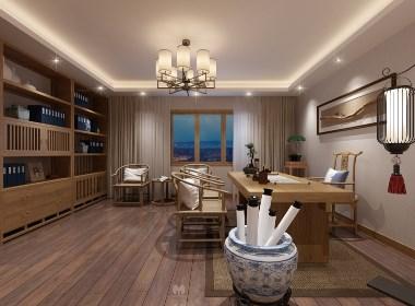 新中式书房设计——沐野